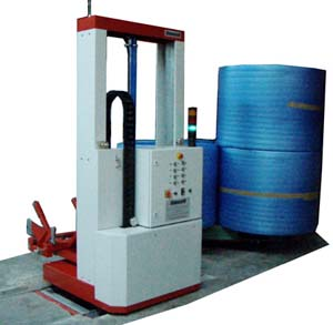 Semiautomatic Palletizer for Polystyrene Rolls