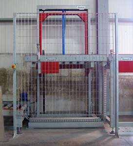 Lift with Roller Conveyor