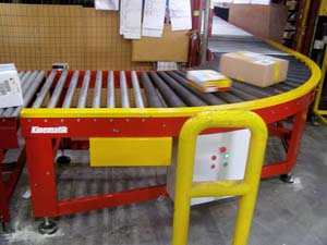 90 degrees curve conveyor
